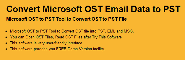 MS Exchange OST to PST